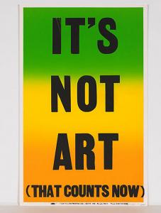 its not art