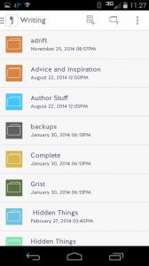 Jotter, looking at Writing directory in Dropbox